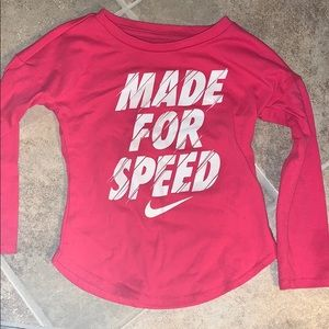2t nike toddler girls long sleeve shirt